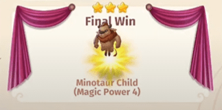 Minotaure créature récompense challenge 5 Merge Magic!