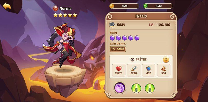 Norma héros 5 étoiles Idle Heroes