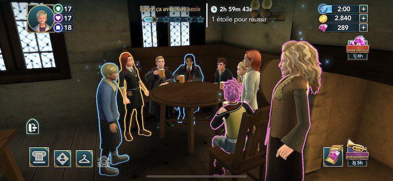 Quête couleur guide Harry Potter Hogwarts Mystery