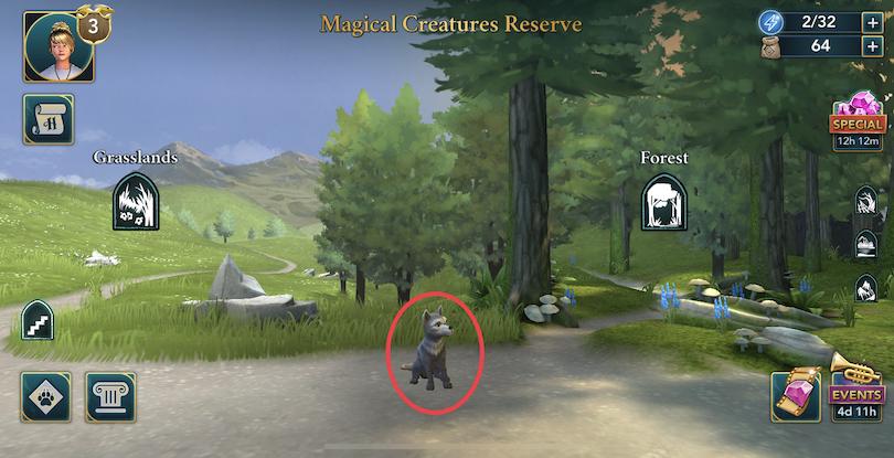 Réserve de créatures magiques - énergie Harry Potter: Hogwarts Mystery