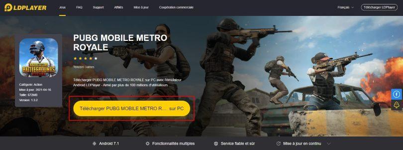 Télécharger un émulateur Android pour jouer à PUBG Mobile sur PC