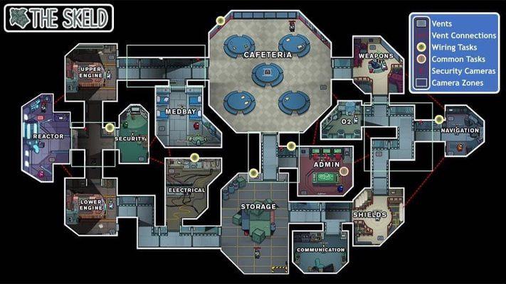 The Skeld plan de la map