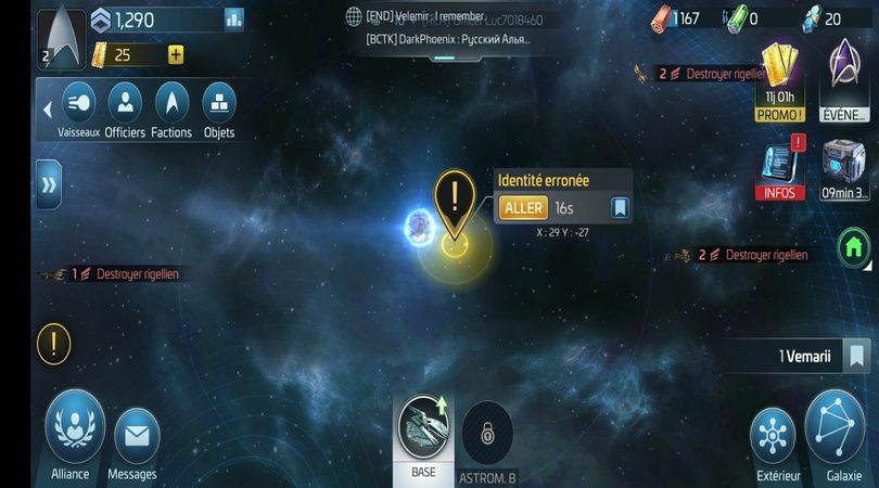 Attaques et accélérations du temps dans Star Trek Fleet Command