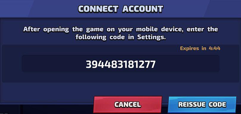 Code compte Smash Legends