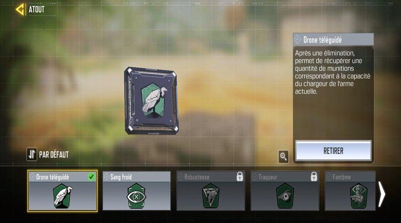 L'atout vert Vautour dans CoD Mobile