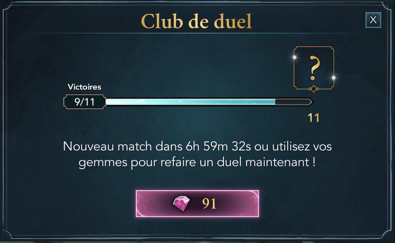 Club duel Harry Potter: Hogwarts Mystery