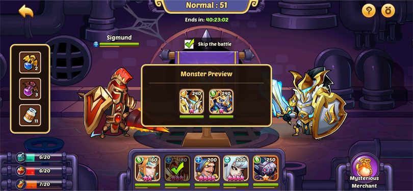 Aspen Dungeon Idle Heroes fight