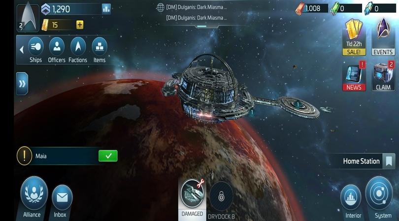 Homescreen Star Trek Fleet Command