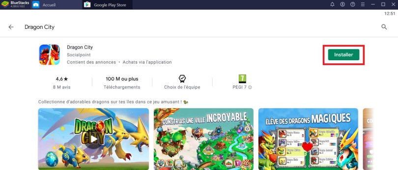 Installer Dragon City sur PC