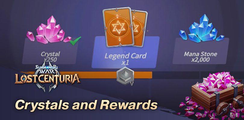Free crystals and rewards Lost Centuria