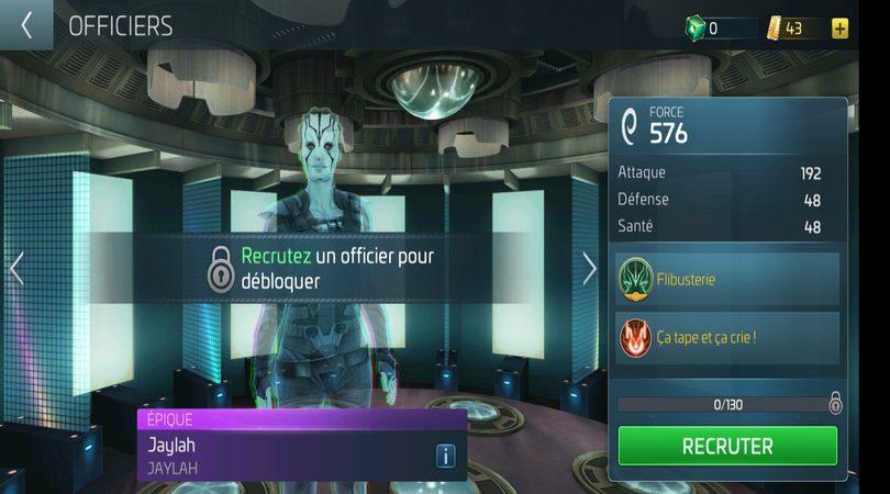 Recruter un officier dans Star Trek Fleet Command
