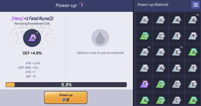 Rune enhancement Lost Centuria
