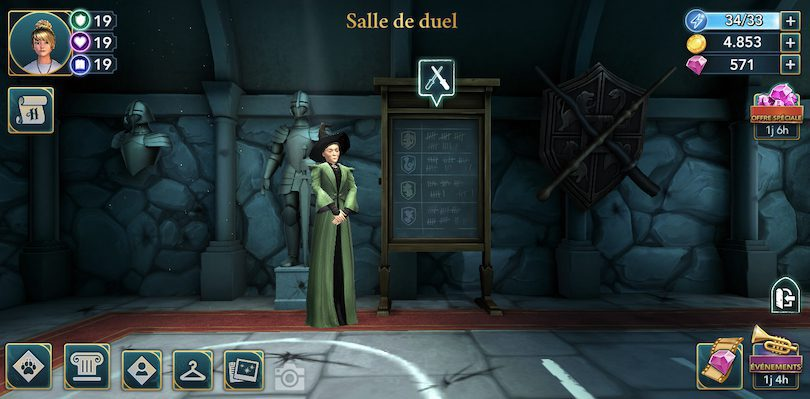 Salle de duel Harry Potter: Hogwarts Mystery