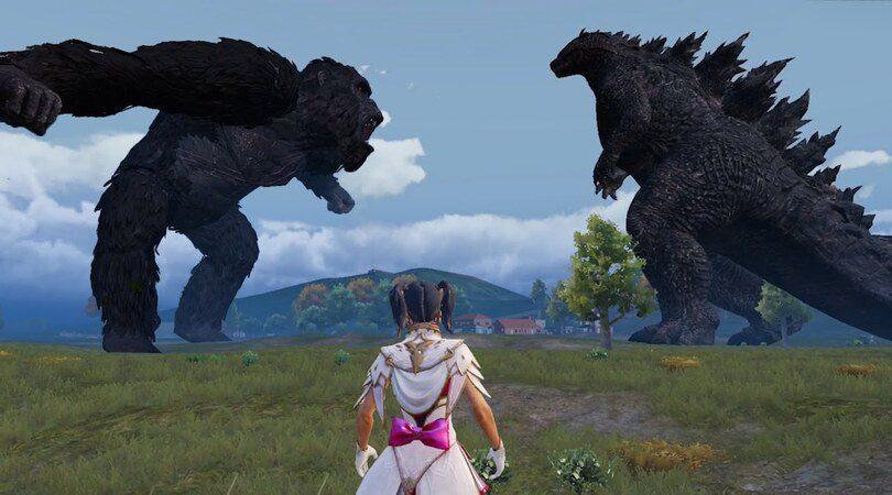 Godzilla VS Kong dans PUBG Mobile. Source : maxresdefault.
