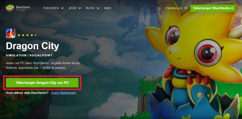 Télécharger un émulateur Android pour jouer à Dragon City sur PC