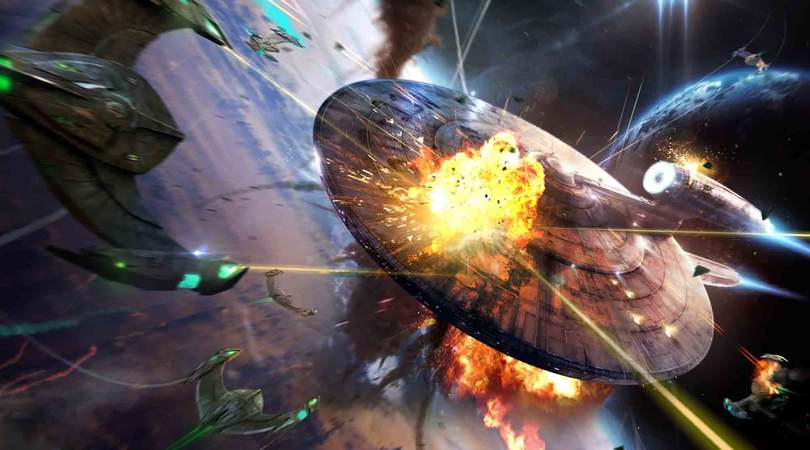 Attaque de vaisseaux dans Star Trek Fleet Command