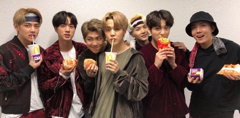 BTS groupe de K-Pop au McDo