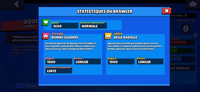 Guide Brawl Stars Squeak - Attaque et Super