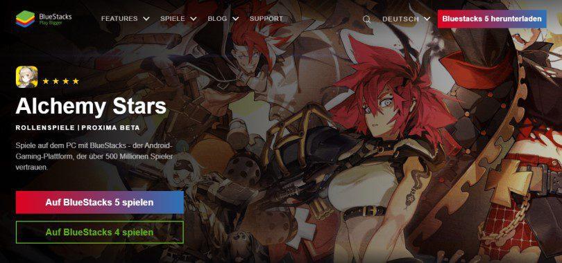 Laden Sie einen Android-Emulator herunter, um Alchemy Stars auf dem PC zu spielen.