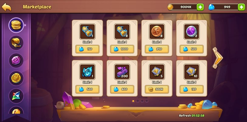Idle Heroes Arena: tickets in the market