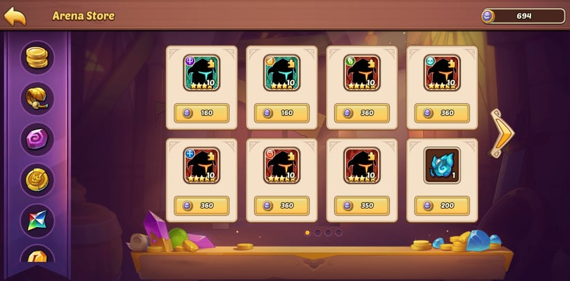 Idle Heroes Arena, the shop