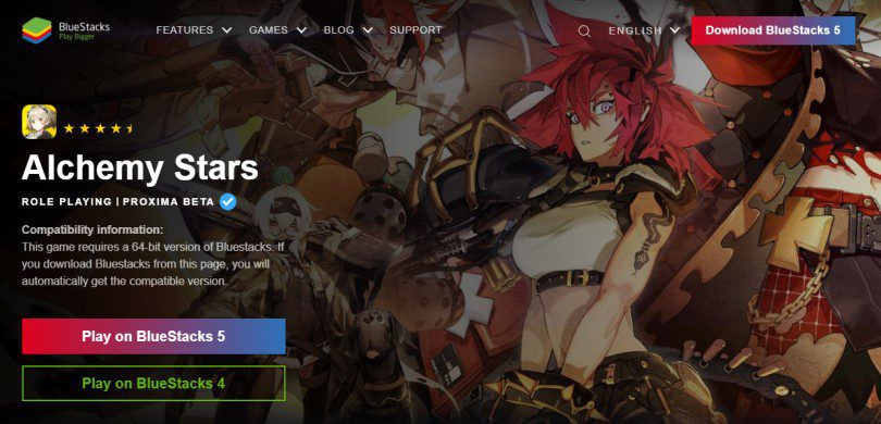 Download an Android emulator to play Alchemy Stars on PC