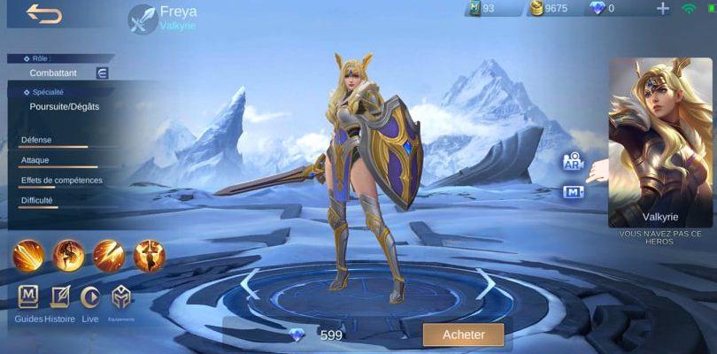 Freya, prix en diamants Mobile Legends