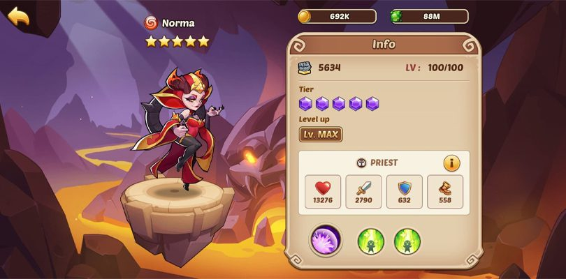 Norma 5 star Idle Heroes