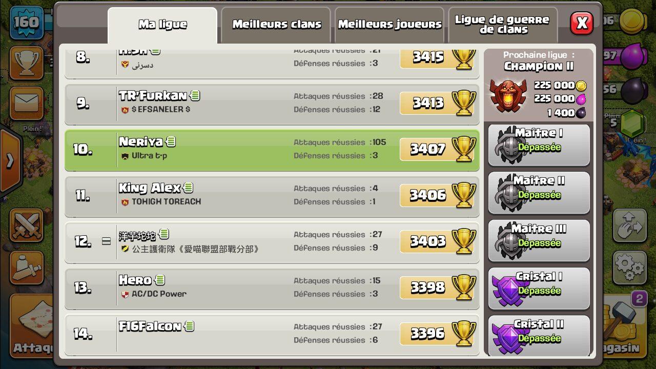 Ligue champions III dans Clash of Clans