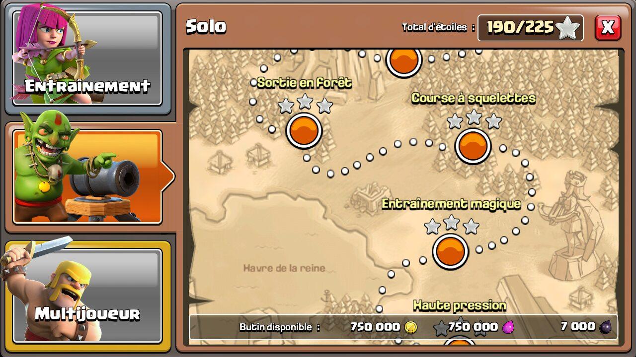 Astuce Clash of Clans pour les ressources: mode solo
