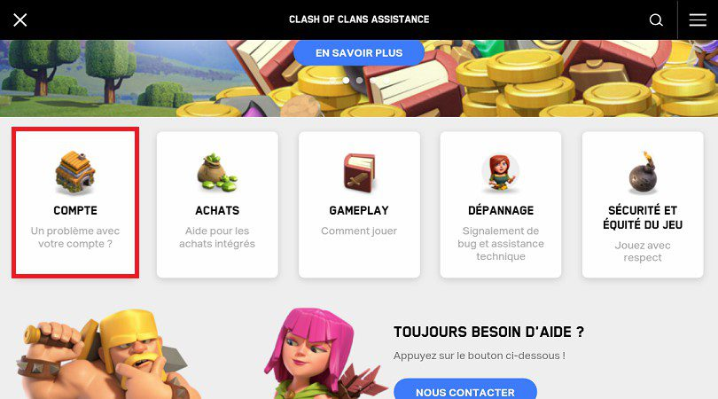 FAQ assistance Clash of Clans