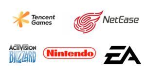 Classement plus gros éditeurs jeux vidéo du monde