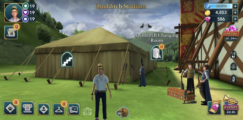 Harry Potter Hogwarts Mystery - Stade de Quidditch