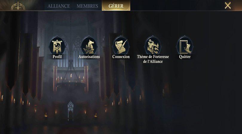 Quitter son alliance dans King of Avalon