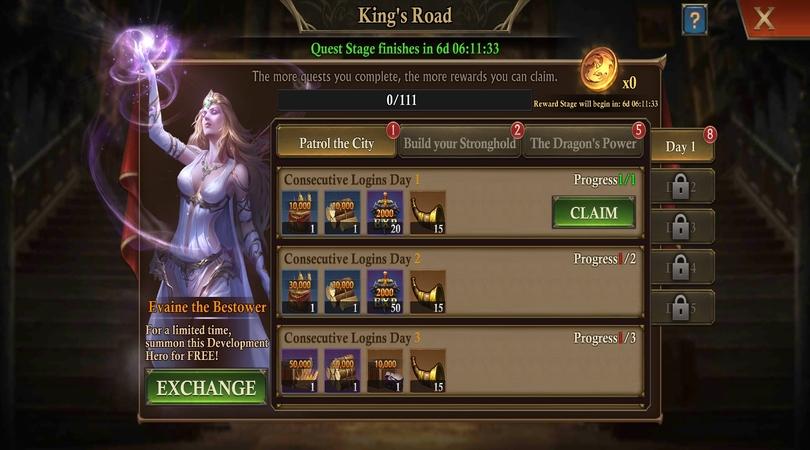 Rufen Sie Ihre Belohnungen in  King of Avalon