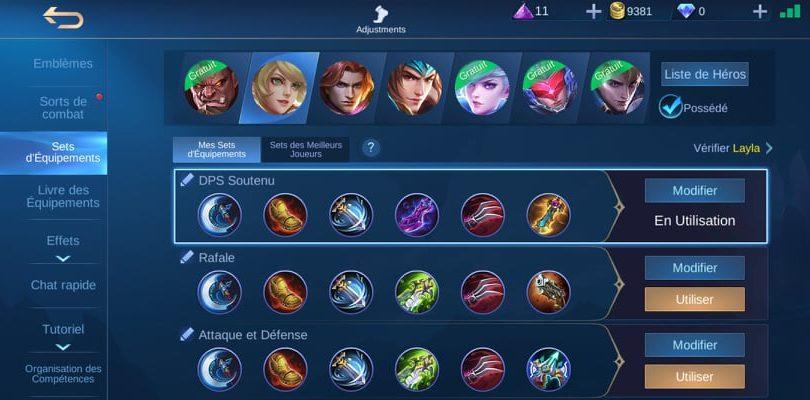 Set d'équipements pour Layla - Guide Mobile Legends
