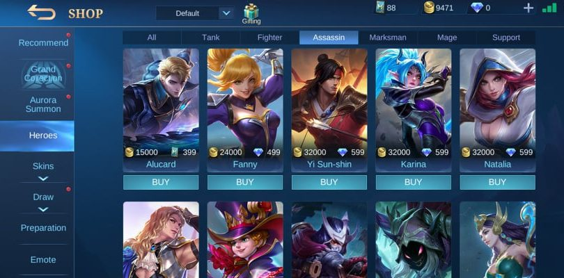 Mobile Legends Hero Shop