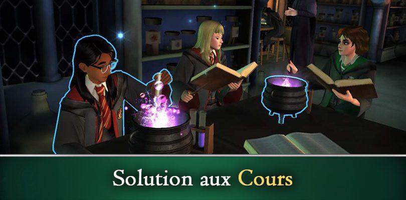 Soluces Harry Potter Hogwarts Mystery réponses questions de cours