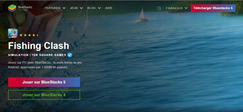 Télécharger un émulateur Android pour jouer à Fishing Clash sur PC