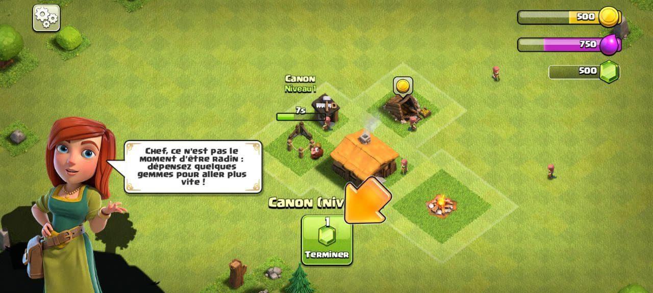 Economiser des gemmes dans Clash of Clans