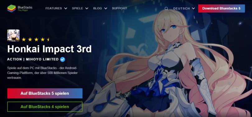 Laden Sie einen Android-Emulator herunter, um Honkai Impact auf dem PC zu spielen.