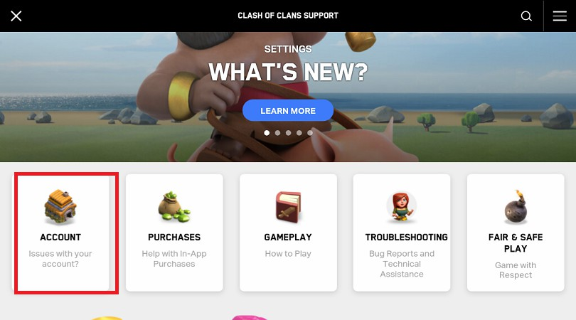 FAQ-Unterstützung Clash of Clans