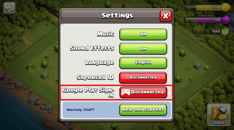 Parameter Google Play Clash of Clans