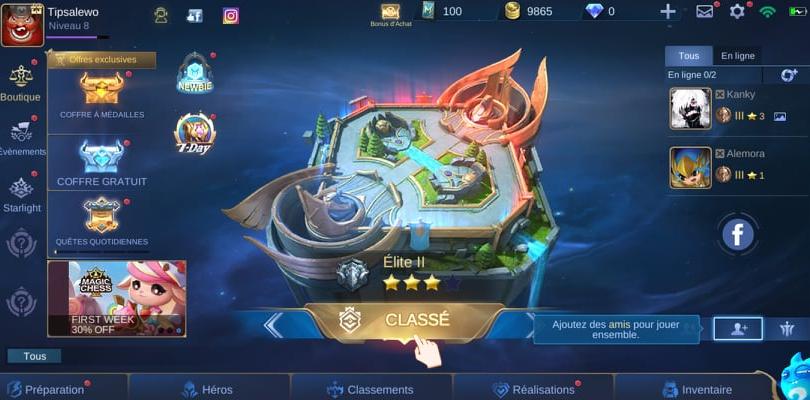 Mobile Legends rank : comment jouer en classé