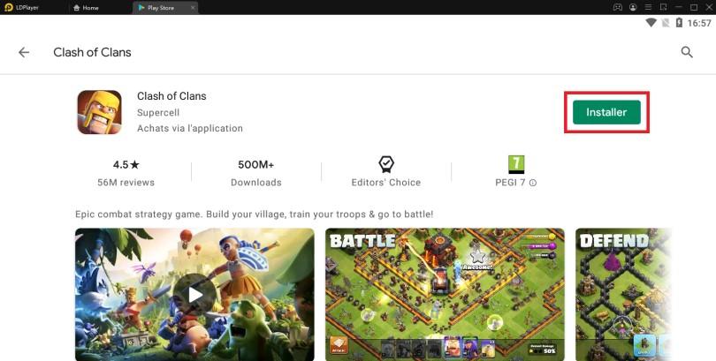 Installer Clash of Clans sur PC