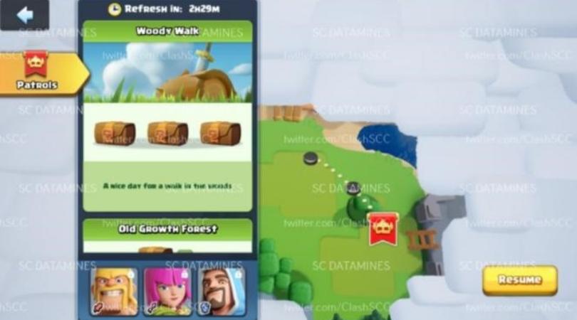Carte jeu Clash Supercell