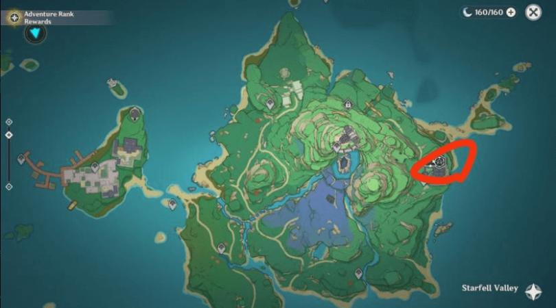 Carte d'Inazuma Genshin Impact