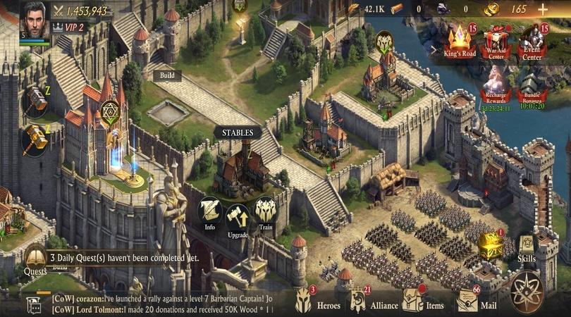 Gebäude, in denen Sie Ihre Truppen ausbilden können  King of Avalon