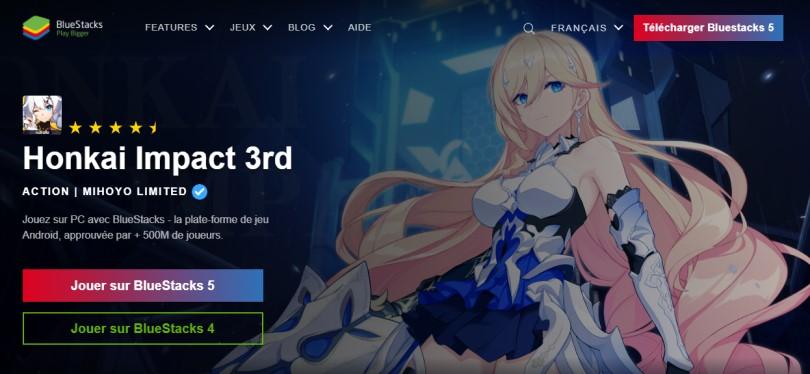 Télécharger un émulateur Android pour jouer à Honkai Impact sur PC