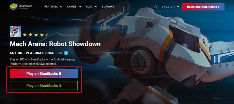 Télécharger un émulateur Android pour Mech Arena PC